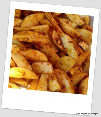 potatoes, pommes de terre, frites, épices